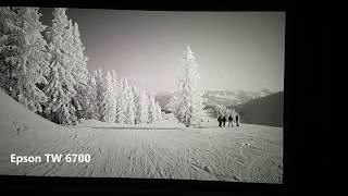 Epson TW6700 vs Acer M550. Sehr kurzer Spot-Vergleich mit Full HD Content, Werkspresets, Cinegrey 5D