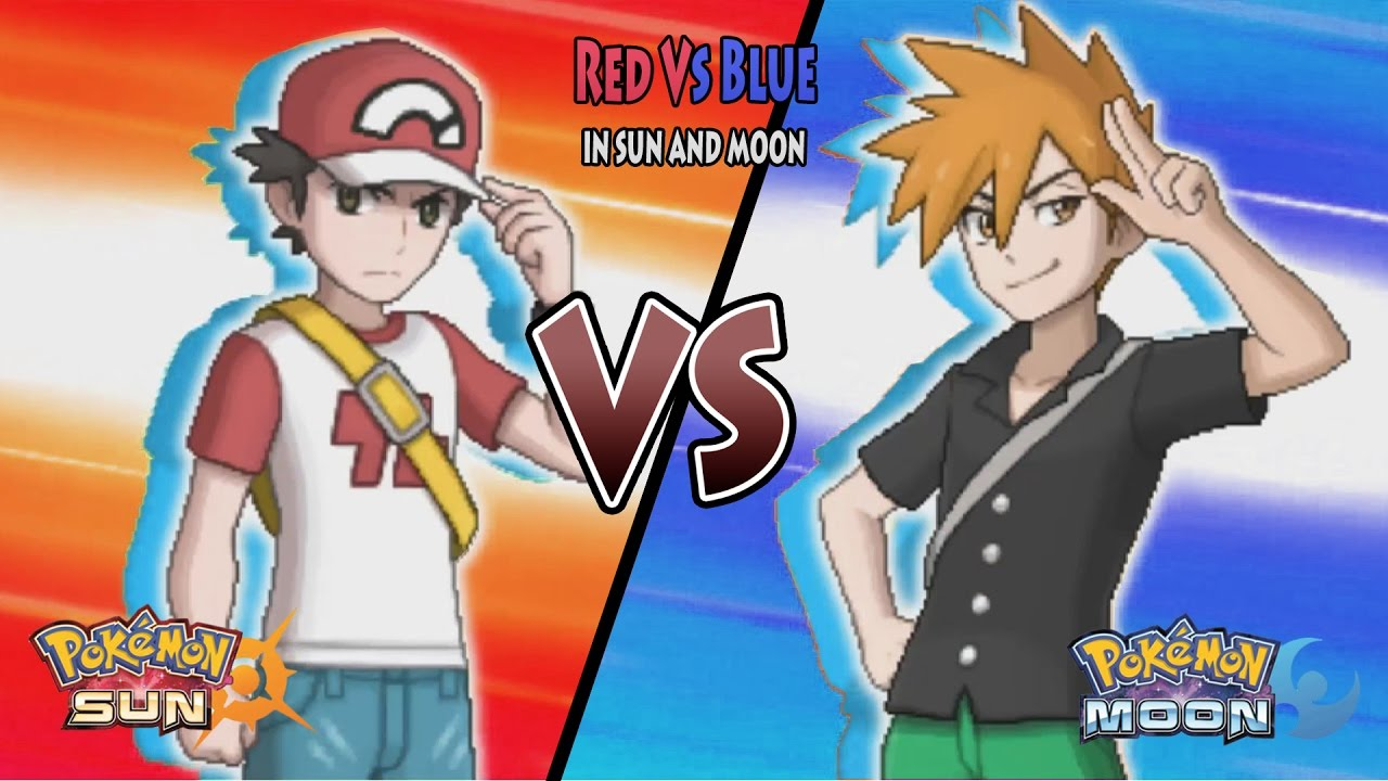 red and blue in sun and moon - photo #3