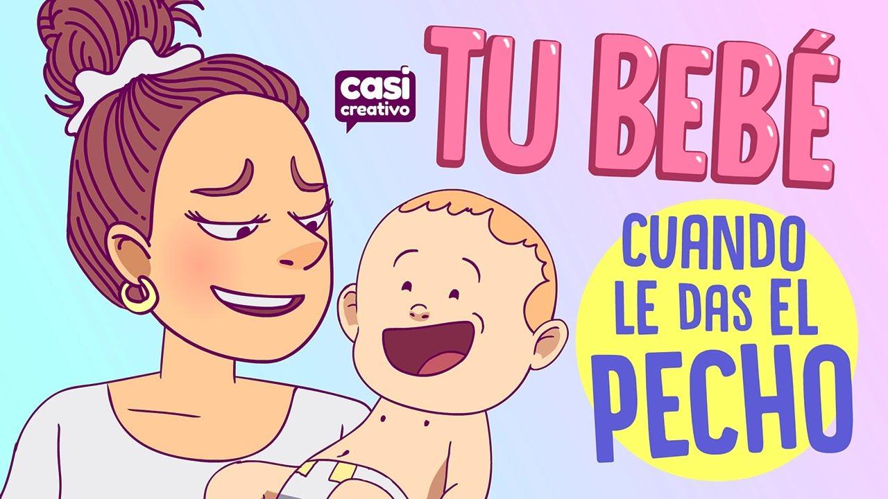 Tu bebé cuando le das el pecho   Casi Creativo