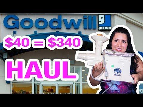 Goodwill HAUL todo de cocina!