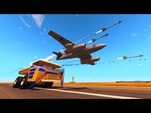 BELAZ VS HEAT SEEKING MISSILE, RACING F1 CAR & MORE! - BeamNG Drive Gameplay and Crashes