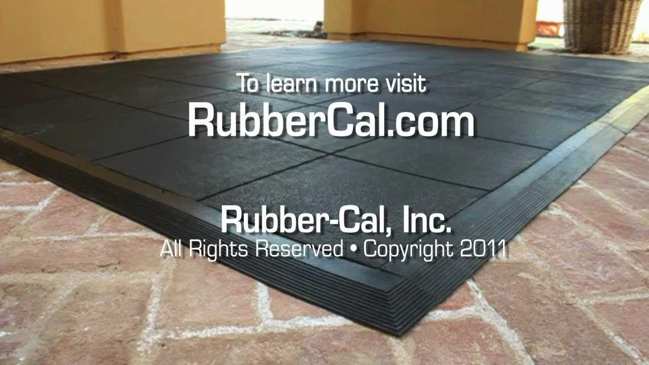How to install revolution rubber flooring tile ramps from rubber how to install revolution rubber flooring tile ramps from rubber cal youtube dailygadgetfo Choice Image