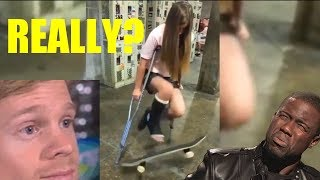 Try Not To Laugh  - BEST SKATEBOARD AND SCOOTER FAILS OF JANUARY 2018 ft. MARSHMELLO [✖‿✖]   FFV