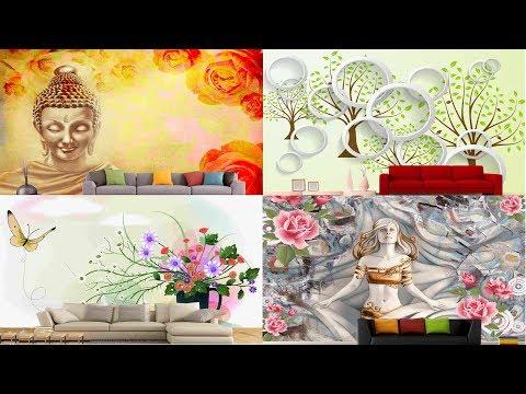 3D wallpaper For Walls   wallpaper decoration ideas for living room and bedroom (vinupinteriorhomes)