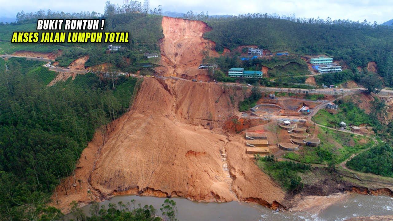 Detik² Tanah Perbukitan Mendadak Runtuh di Terjang Banjir. // Kejadian Alam Terbaru 2020
