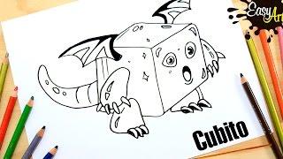 DRAGON CITY│Cómo Dibujar a Dragon Cubito│Dragon how to draw a cube
