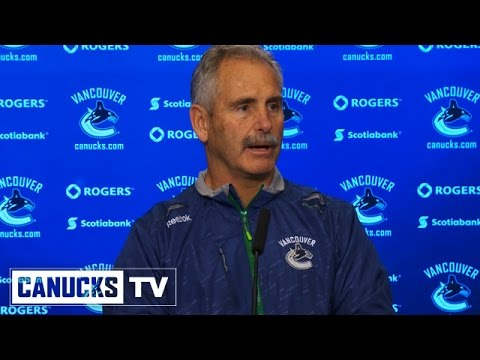 Willie Desjardins Game Day (Oct. 4, 2014)