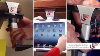 Upper Desk Portable Cabinet Mount For Any Tablet Or Ipad, Android & Ios Devices. Hd