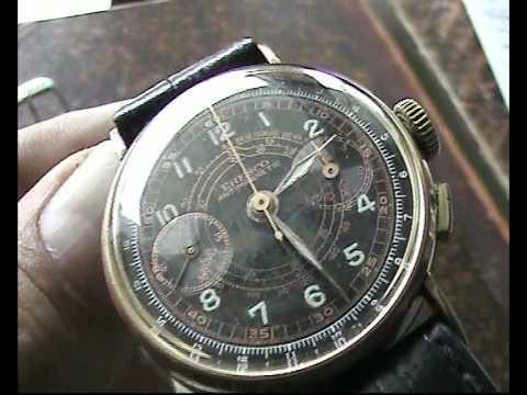 Chronographe Suisse Uhren Werbung 1941