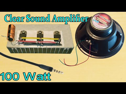 Clean Sound Amplifier  || How to make a Amplifier at home