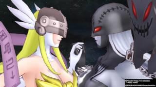 [數碼寶貝物語-網路偵探] 天女獸&女惡魔獸合體~ 混沌神魔獸初登場