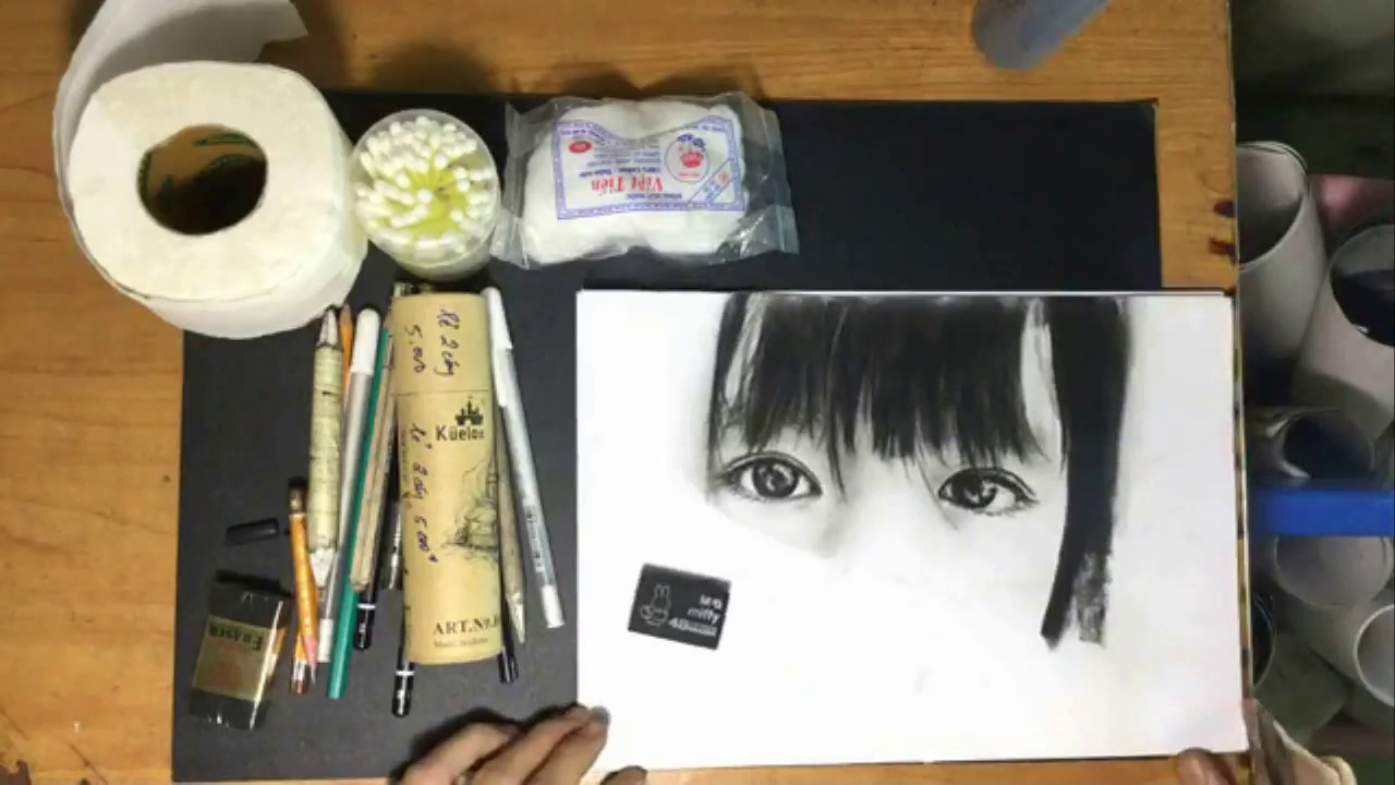 01 Vhuy – Vẽ Chân Dung AZ- giới thiêu các vật liệu vẽ chân dung 1
