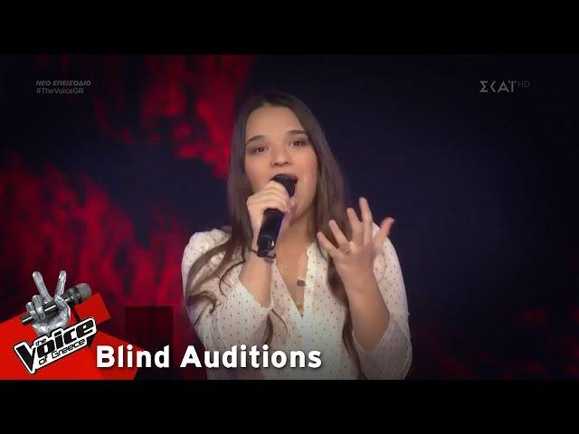 Κωνσταντίνα Ιωσηφίδου - Scared To Be Lonely   8o Blind Audition   The Voice of Greece