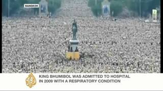Vast crowds gather for Thai king