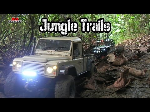 Jungle Trails RC Scale Trucks Offroad Adventures RC Land Rover Defender G Wagon Jeep RC4WD