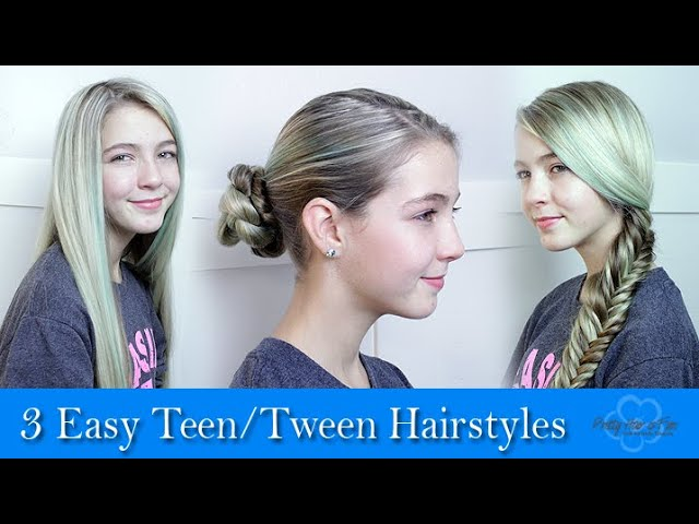 3 Easy Teen Hairstyles Youtube