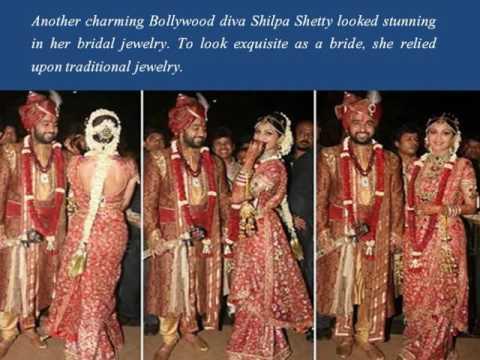 Bollywood Actresses Real Wedding Photos Jewellery & Attire