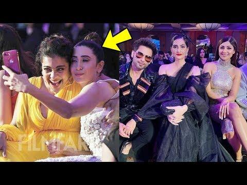 Karisma Kapoor and Kajol FINALLY  started talking and other celebs having fun at Awards function thumbnail