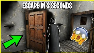 ESCAPE FROM GRANNY'S HOUSE IN 2 SECONDS! - TUTORIAL