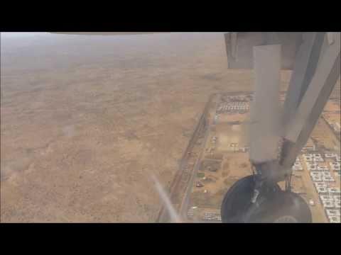 Flying into Geneina, Darfur