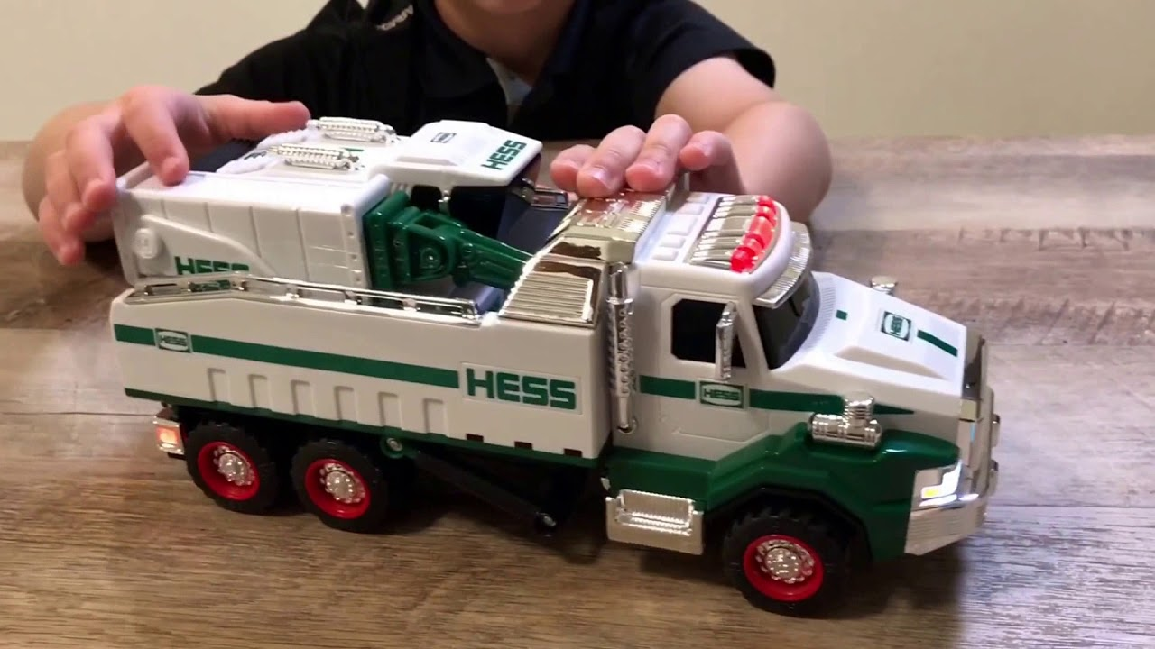 2017 Hess Toy Dump Truck And Loader Toy Unboxing And Review