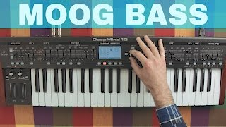 BEHRINGER DEEPMIND 12 MOOG BASS SOUND DESIGN TUTORIAL ~ Synthesize This! Ep.17