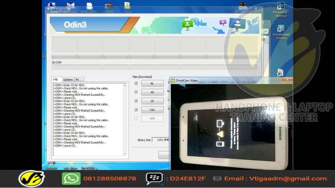 Flashing Samsung P3100 multi file