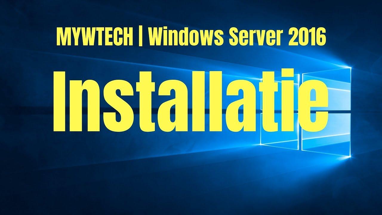 Windows Server 2016 installeren | Virtualbox - YouTube