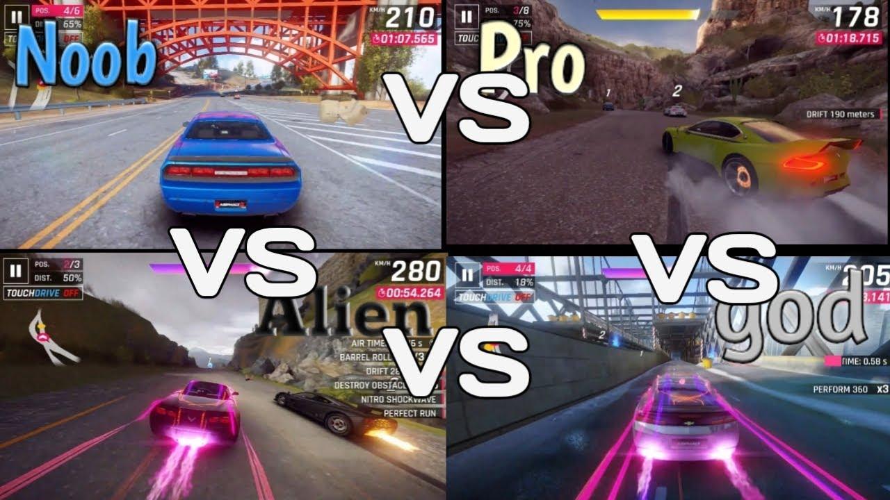 Download Asphalt 9 legends noob vs pro vs alien vs god part-1