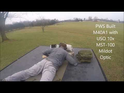 Shooting the M40A1 Sniper Rifle at 750 yards -- DJI Phantom 3 Drone used in spotting hits
