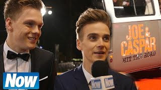 Joe Sugg and Caspar Lee at the Hit The Road premiere
