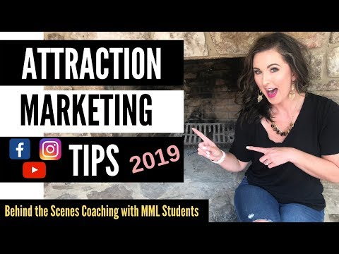 Attraction Marketing Formula | COACHING SESSION with MML STUDENTS 2019