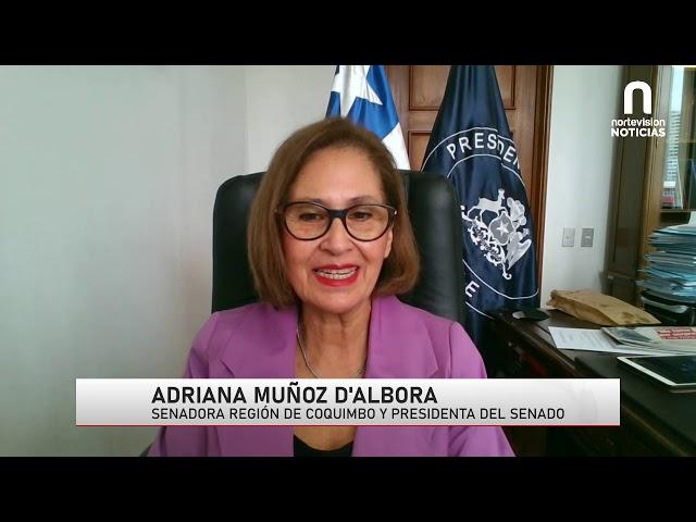 Entrevista Nortevisión Noticias - Adriana Muñoz D'Albora, Presidenta del Senado