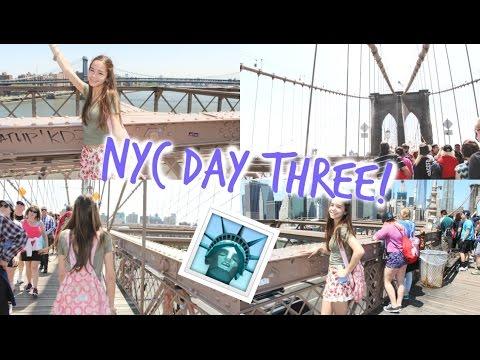 NEW YORK CITY! DAY 3 | Brooklyn Bridge, Chinatown, Bus Ride