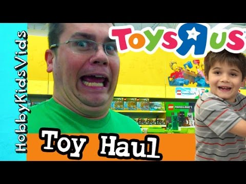 Toys R Us Toy Haul! Lego, TMNT, Minecraft, Princess + Store Reviews HobbyKidsVids