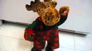 Farting Vintage Dan Dee Christmas Animated Musical Moose Sings Deck The Halls & Farts