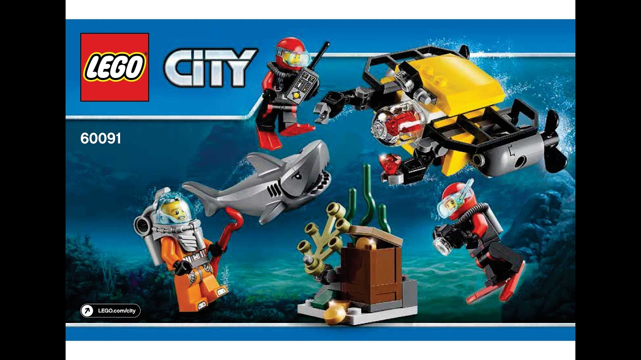 lego 60091 deep sea starter set instructions lego city 2015 deep sea explorers youtube. Black Bedroom Furniture Sets. Home Design Ideas