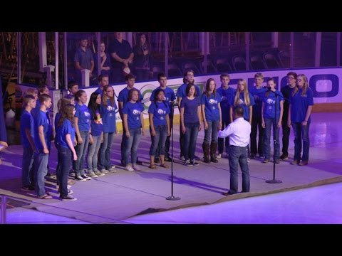 Frontier Academy Honor Choir sing the Star Spangled Banner