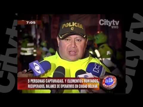Operativos en Ciudad Bolívar deja 5 capturados| CityTv | Arriba Bogotá | Enero 18