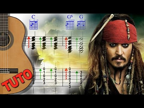 EASY TUTO - Pirates of the Caribbean - Spanish Guitar FingerStyle