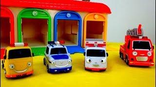 Tayo juega y coches de servicio. Video de juguetes. thumbnail