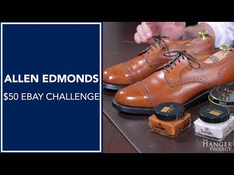 Allen Edmonds $50 Ebay Challenge | How To Restore & Shine Shoes