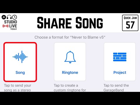 How To Share/export Your GarageBand IOS Songs (iPhone/iPad)