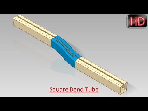 Square Bend Tube (Video Tutorial) Autodesk Inventor