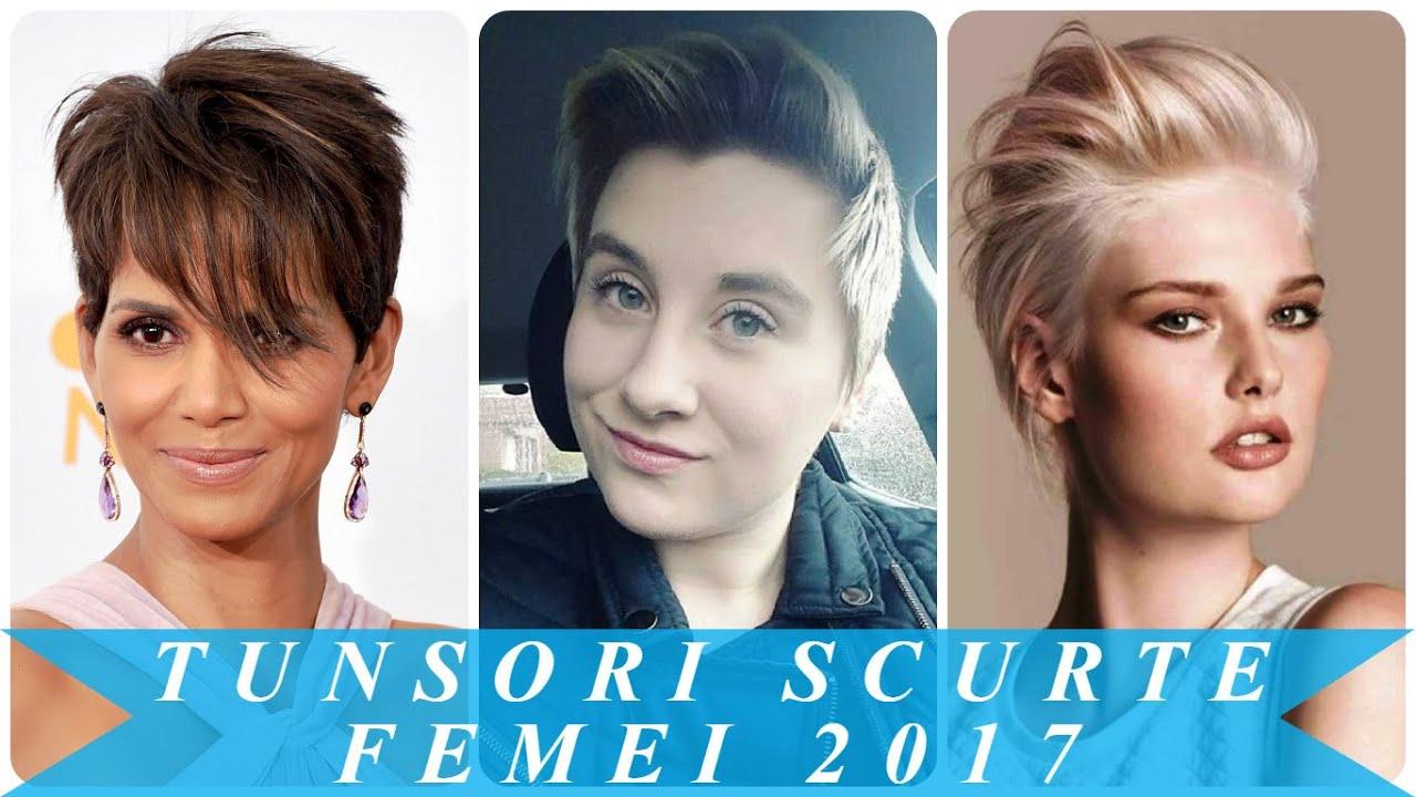 Tunsori scurte femei 2017 - YouTube