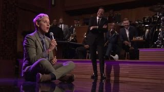 Repeat youtube video Ellen DeGeneres and Jimmy Fallon Face Off in Hilarious Lip Sync Battle