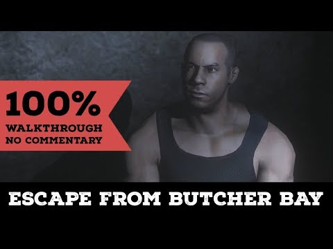 The Chronicles Of Riddick: Escape From Butcher Bay│100% Longplay Walkthrough│No Commentary│Hard