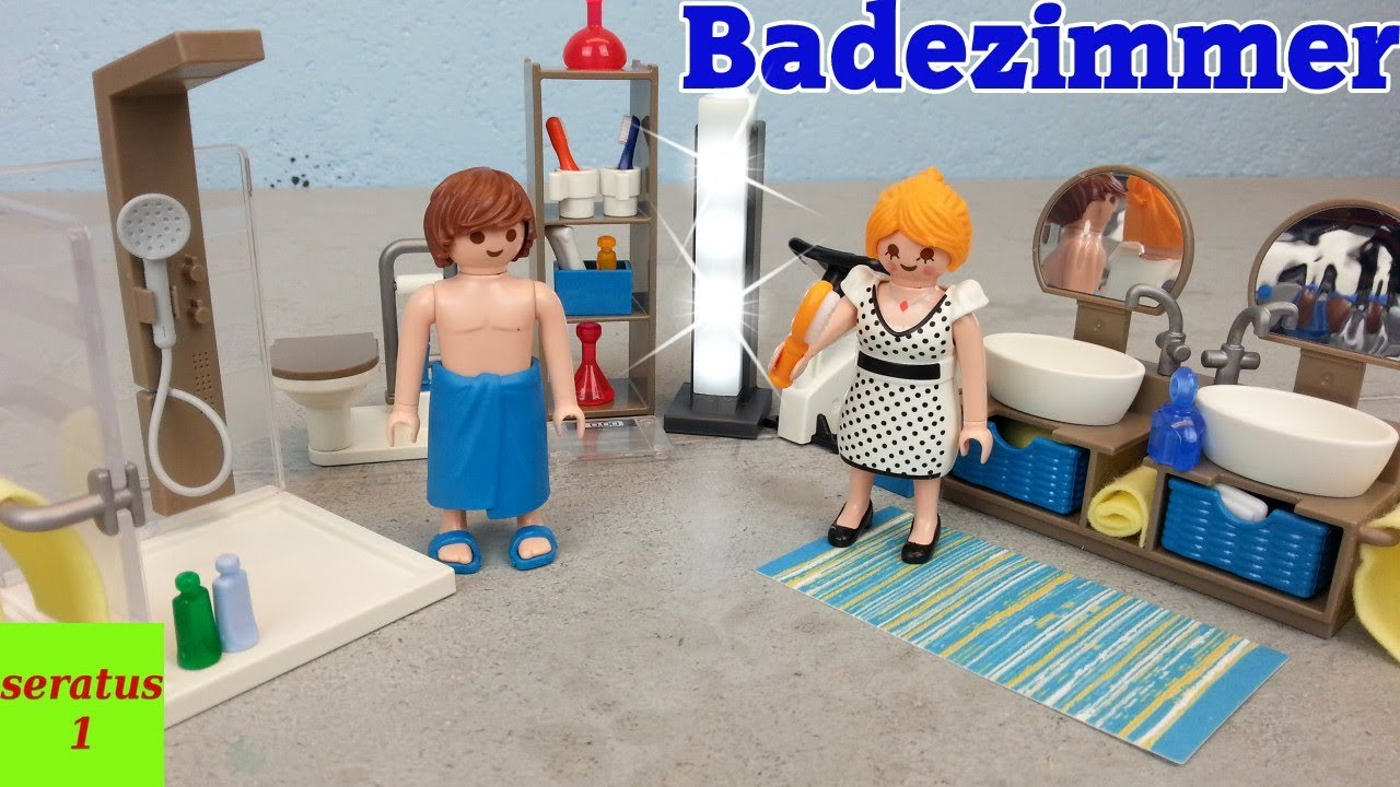 playmobil badezimmer 9268 auspacken modernes wohnhaus On playmobil modernes badezimmer