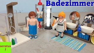 Playmobil Badezimmer 9268 auspacken Modernes Wohnhaus seratus1
