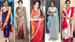 actress sridevi in sarees